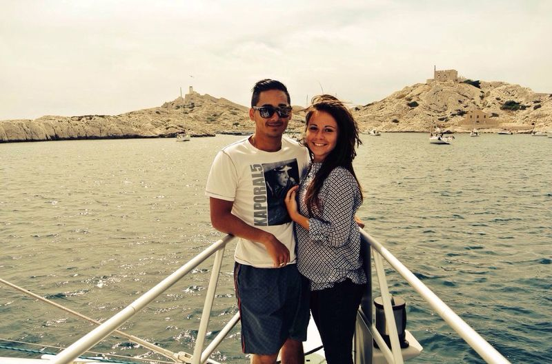 Catamaran ride with my wife in the beautiful Calanques of Marseille.