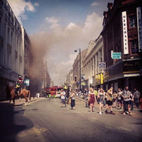 Exodus Evacuation Manchester Blaze Paulshairworld fire OldhamStreet