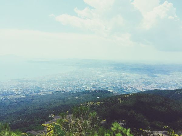 Beautiful view from Monte Vesuvius Italy Travel Summer Amazing View
