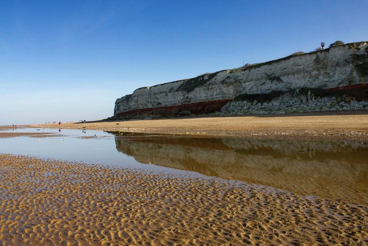 Hunstanton cliffs reflection Beach Clear Sky Sand Nature Blue No People Sea Outdoors Water Landscape Sky Scenics Beauty In Nature Day Norfolk Uk Norfolk West Norfolk Seaside Cliffs EyeEmNewHere EyeEm Nature Lover