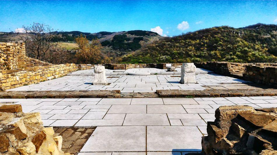 The ruins of Tsarevets Fortress Veliko Tarnovo Bulgaria Fortress In Europe Springtime Europe Trip