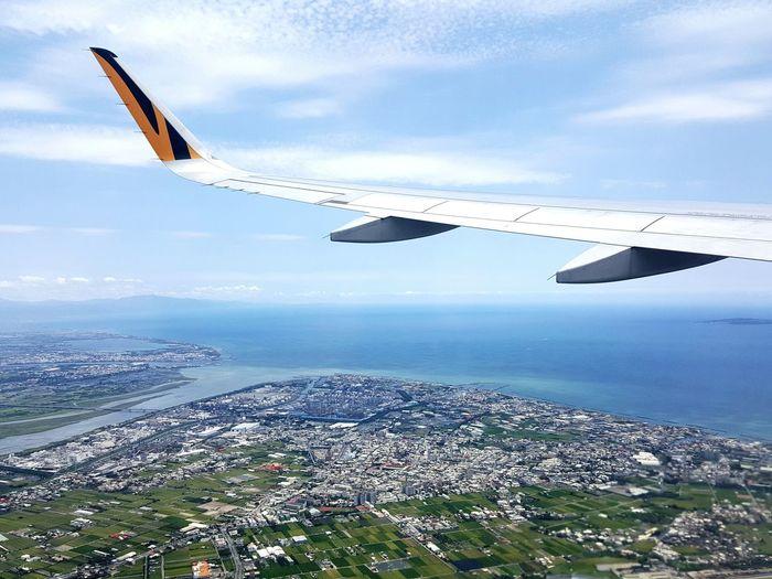 From An Airplane Window Airplane Kaohsiung Kaohsiung Taiwan Taiwan Traveling