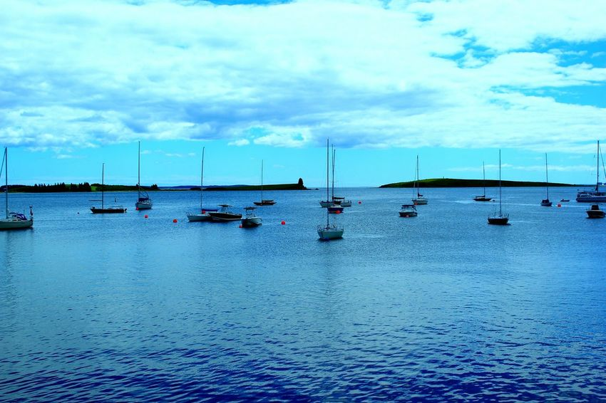 Chester, Nova Scotia...my kind of scenery. :) Taking Photos Ocean Sailboats Harbour Beautiful Day Perfect Day Day Off Atlantic Ocean