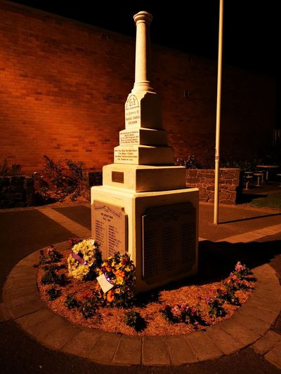 At night, many years after the wars have ended, their names are here to remind us they tried.....and died. Good or bad. Right or wrong. They tried. Warmemorial War Memories Remembrance Sacrifice Folly Australia Illuminated