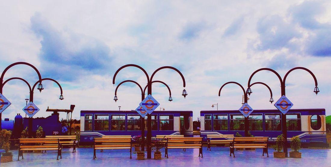 Sky Cloud - Sky Outdoors City Architecture Day Blue Train Station Train Tracks