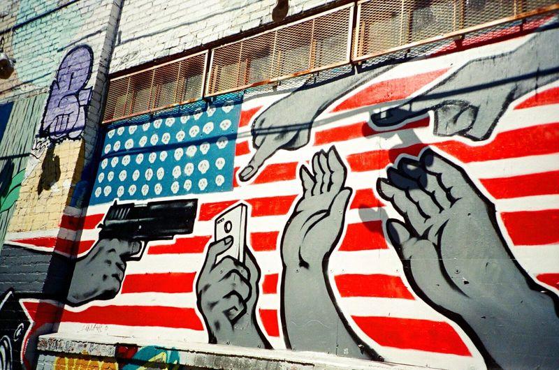 No People Street Clarion Alley F2/400 Film Koduckgirl LCA+ Mural Art Graffiti Art