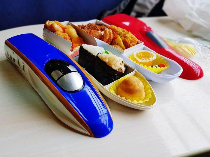 Shinkansen lunch box Lunch Box Shinkansen Red Bule EyeEm Selects Plate Close-up Food And Drink