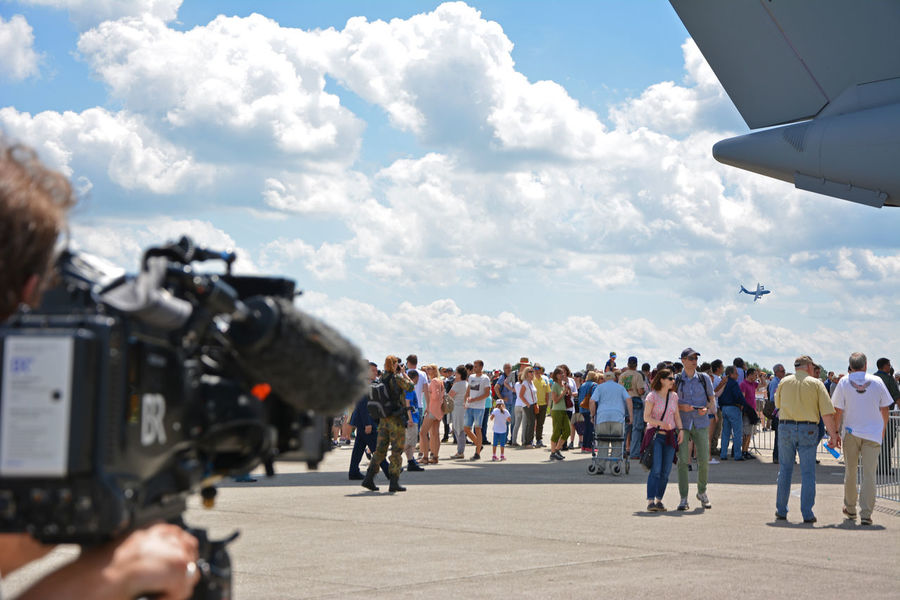 """Great sunny Saturday at the airbase Penzing (Germany) and celebrating the """"Tag der Bundeswehr 2017"""" #transportation A-400M Aerospace Industry Airbus Airplane Airshow C-130 Hercules C-160 Transall Ch53 Clear Sky Crowd Of People Engines Eurofighter Fighting Jets Flying Helicopter Military Airplane Military Parade Outdoors Photography Panaviatornado Starfighter Summer Day TDBW17 Transall"""