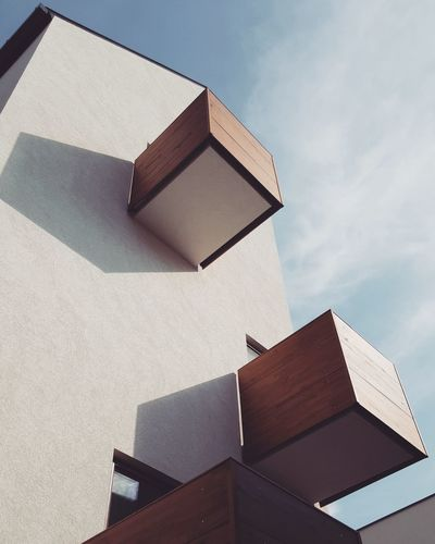 Minimalism. Balcony View Balcony Shot Colors Minimamism Architecture Balcony Blueandbrown Bluesky Building Building Exterior Buildings & Sky Built Structure Day Low Angle View Minimal Minimalstyle No People Outdoors Sky Sky_collection