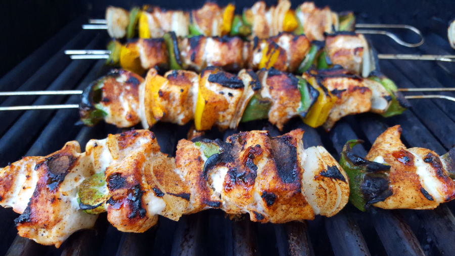 Kabobs on grill