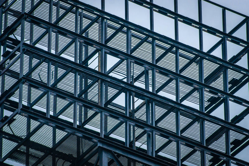 Modern building metal structure