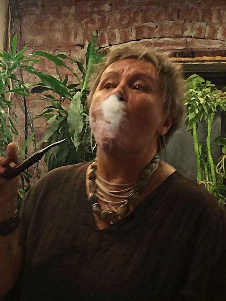 Friend smoking a pipe Enjoying Life Brooklyn Brighton Beach IPSEmotions