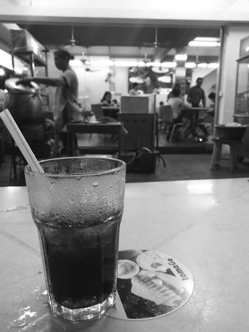 Local Culture Local Shops Local Life Local Coffee Shop  Kopitiam Simple Life Dinner Herbal Tea Black And White Blackandwhite Photography Monochrome