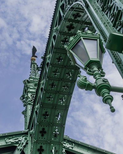 A different perspective of Liberty Bridge, Budapest. City Sky Architecture Built Structure Green Color