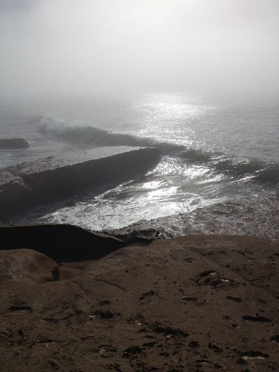 Anchor Arid Climate Fog Foggy Geology Motion Ocean Physical Geography Power In Nature Rock Rock - Object Rock Formation Rough Silver Lights Splashing Stone Sunlight Sunny
