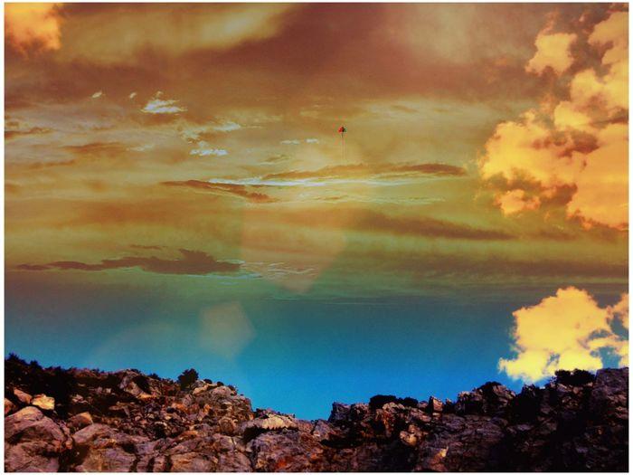 Greece Salamina Rocks Sky Kite Nature Showcase April