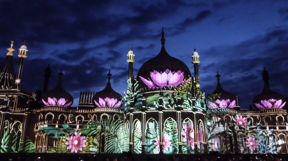 Cities At Night Dr Blighty at Royal Pavilion Gardens last nigh' performance http://brightonfestival.org/event/8490/dr_blighty/ Art Installation Projection Architecture Art ArtWork The Architect - 2016 EyeEm Awards