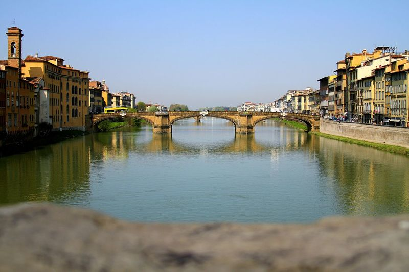 Bridge On Arno River Against Clear Sky