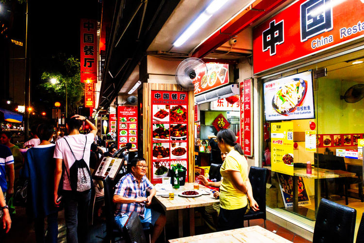 Canon Canon G5X Chinatown Contrast Dining Food G5X Illuminated Lifestyles Night People Singapore Street Food Street Photography Streetphotography The Street Photographer - 2017 EyeEm Awards
