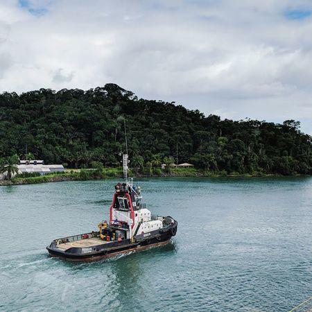 Nautical Theme Life Onboard Tugboat Tree Water Nautical Vessel Sky Sailing Boat Water Vehicle