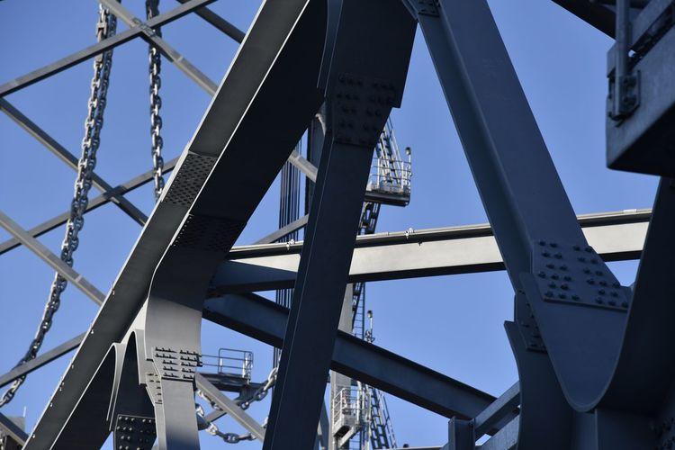 Abstract detail of drawbridge