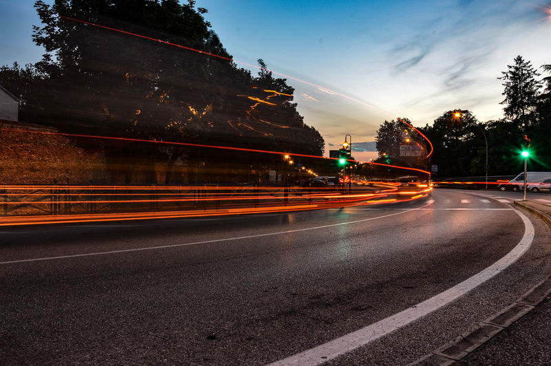 like a Comet 💥 City Road Long Exposure Light Trail Sky Tail Light Traffic Vehicle Light Vehicle Traffic Jam Headlight Stoplight Highway High Street Rush Hour Elevated Road