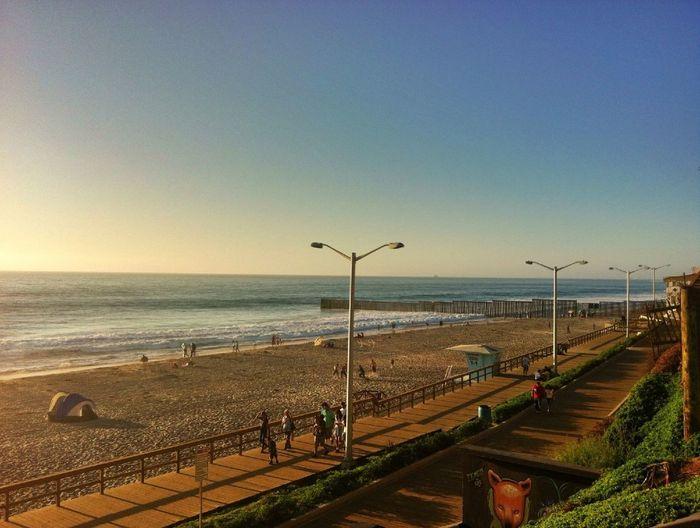 The beach,