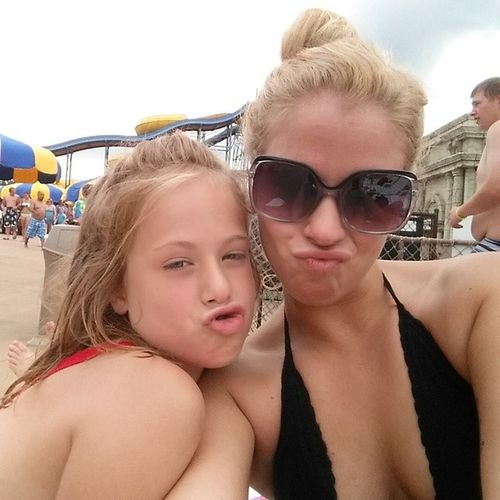 Duck faces for days. Minime Shesmybestie