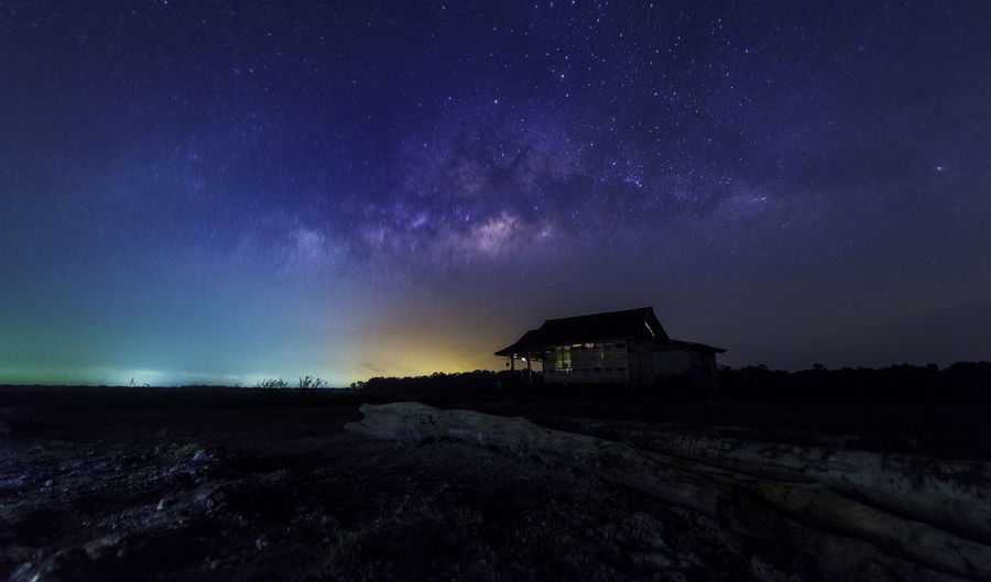 Homestar Songkhla Thailand Architecture Astronomy Beauty In Nature Built Structure Galaxy Kunchalik Landscape Mountain Nature Night No People Outdoors Peerawas Scenics Sky Star - Space Starry Tranquil Scene Tranquility