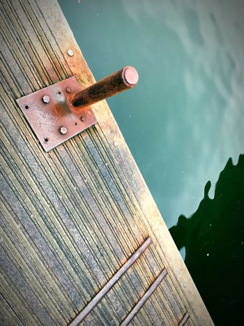 EyeEm Selects Wood - Material No People Outdoors Day Close-up Water Nature Weirdangle Lookingdown EyeEmBestPics EyeEm Best Shots Harbor High Angle View Moored