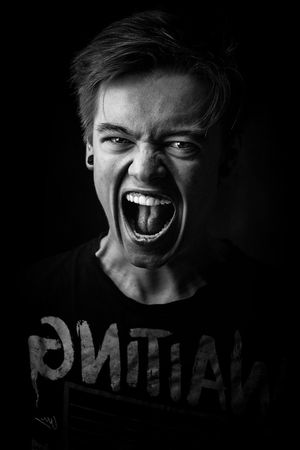 Le cri 😵 Black Background Portrait Bad News Looking At Camera Shouting Studio Shot Headshot Anger Screaming Furious Disappointment Horror Terrified Grief Hysteria Domestic Violence This Is Masculinity