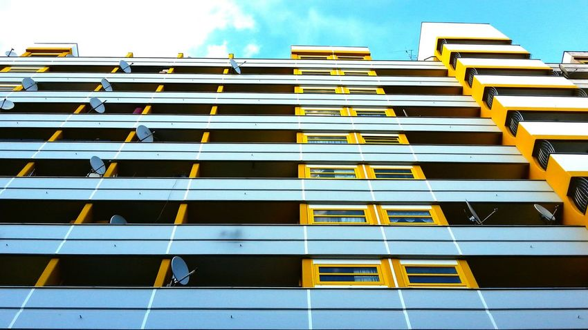 Architecture_collection My Fuckin Berlin Yellow Wes Anderson Inspiration Lookingup Minimalism Urban Geometry Berlin Architecture