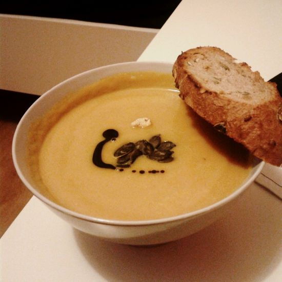Pumpkin Soup Bread Pumkin Oil Pumpkin Seeds Delicious Food Healthy Food Pumpkin Soup