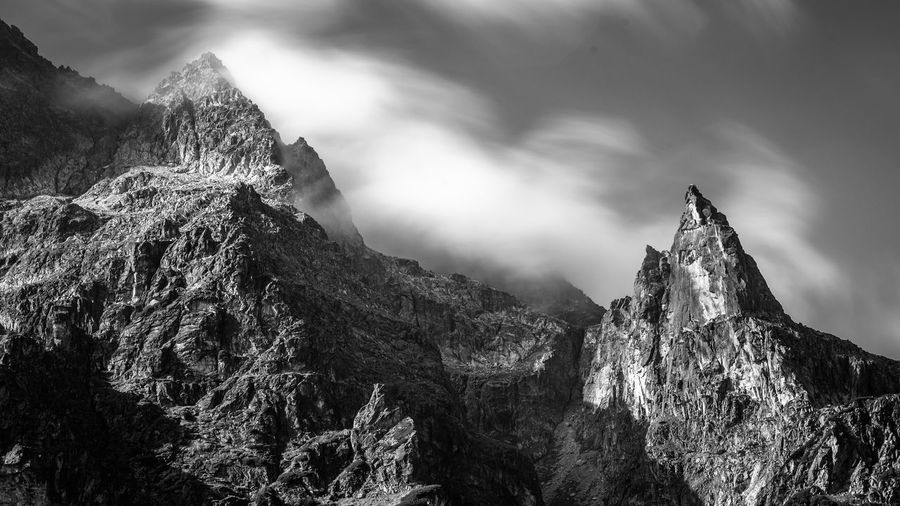Black & White Landscape_Collection Postcard Balck And White Beauty In Nature Calendar Cloud - Sky Day Environment Eroded Formation Low Angle View Mountain Mountain Peak Mountain Range Nature No People Non-urban Scene Outdoors Rock Rock - Object Rock Formation Sky Tranquil Scene Tranquility