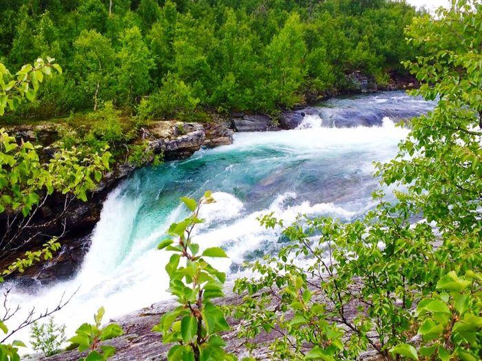 Northern Sweden Gaustafallet Waterfall Klimpfjäll