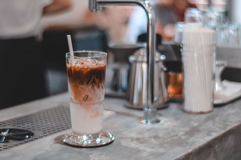 Coffee Drink Food And Drink Refreshment Glass Table Drinking Glass Freshness Household Equipment Close-up Indoors  Coffee Coffee - Drink Transparent Focus On Foreground Cafe No People Food Glass - Material Business Coffee Shop
