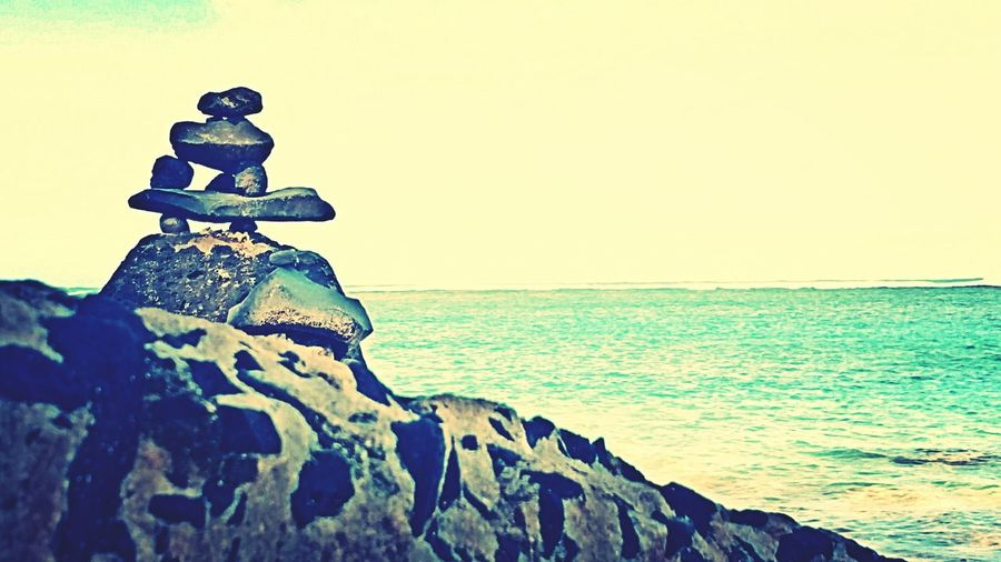 Beach Rocks Beach Hawaii Kauai♡ Ocean Scenery Rock Sculpture In The Ocean Paradise Anini