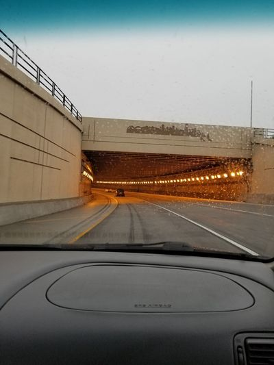 Road Trip Tunnel City Car Road Driving Car Point Of View Highway Two Lane Highway Light At The End Of The Tunnel