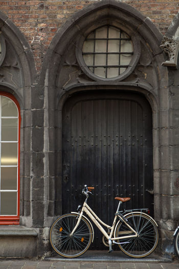 Architecture Belgium Bicycle Brugge Brugge, Belgium Built Structure Cycle Door Old Old Buildings Travel