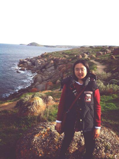 Cliff Sea Portrait