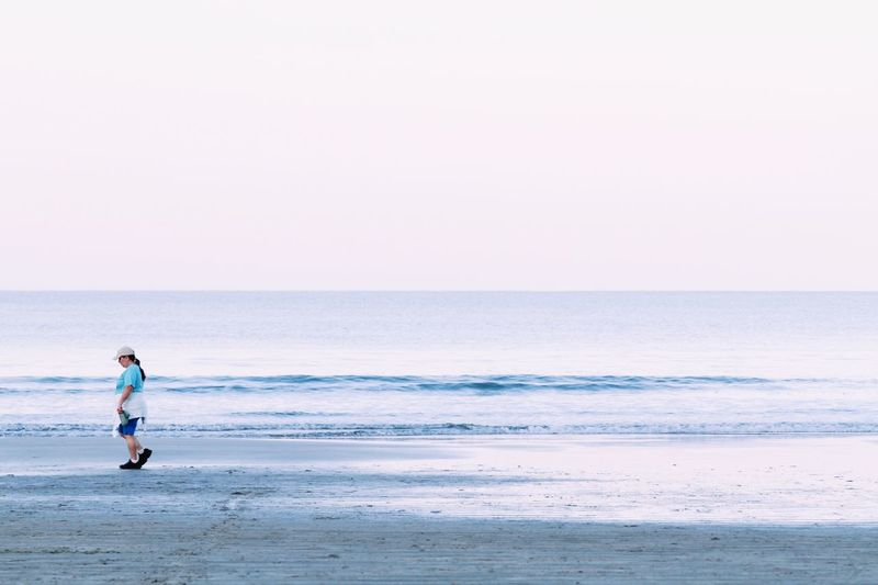Q is for quiet. Seaside in the morning. Showcase March Sea Sea And Sky Seaside Seascape Sea View Seashore Ocean Beach Praia Coastline Coast Sunrise Morning Morning Light Quiet Moments Water Minimalism Minimal People Of The Oceans