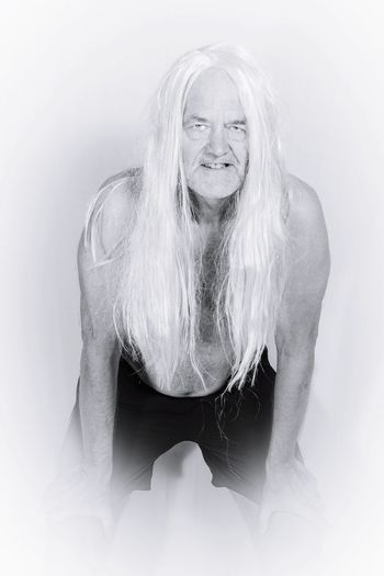 white boy White Hair White Hair Men Old Man Long Hair This Is Strength Portrait Water Senior Adult Human Face Ghost