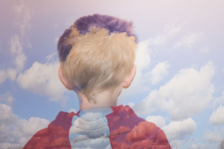 Blended Blended Images Boy Check This Out Childhood Clouds And Sky Daydream Daydreaming Dreaming Dreams Head And Shoulders Head In The Clouds Head In The Sky Head Shot  Showcase: February Youth Of Today Lost In Thought... Fantasy Dreamy Sky Dreamy Child Carefree Innocence Lost In Space...