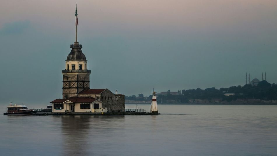 Kizkulesi Maidenstower Sea And Sky Sunrise Mosque Landscape Lanscape Photography Istanbul Turkey