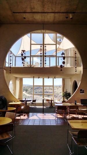 Architecture Arcosanti Circular Windows Light Bells Balcony