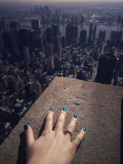 New York City Love is in the a Travel New York City Visit New York Human Hand Cityscape City Nail Polish Skyscraper Low Section Beach Shadow Personal Perspective Architecture Urban Skyline International Women's Day 2019