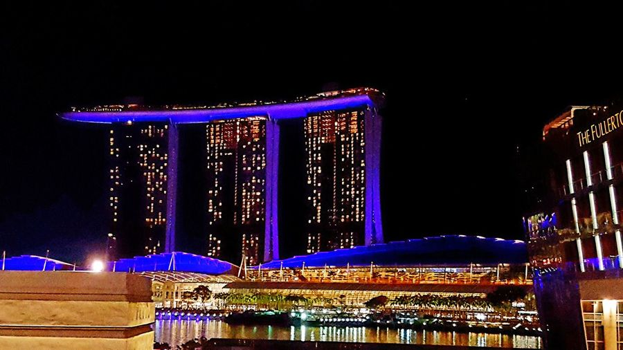 Marina Bay Sand hotel City Illuminated Neon Cityscape Popular Music Concert Christmas Market Arts Culture And Entertainment Christmas Decoration Sky Architecture Entertainment Christmas Lights Electric Light