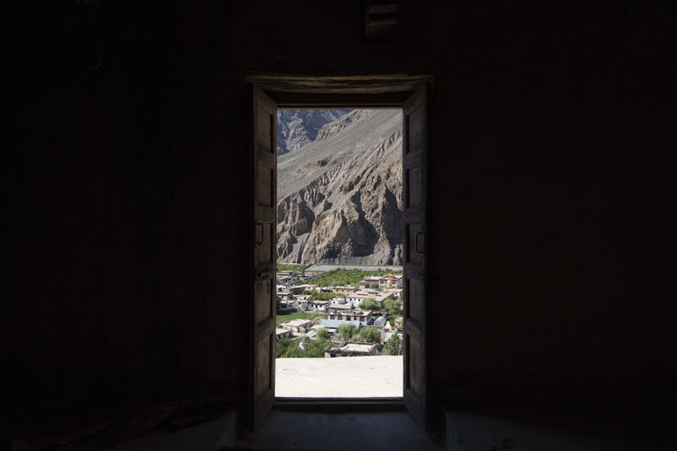 Window in mountains