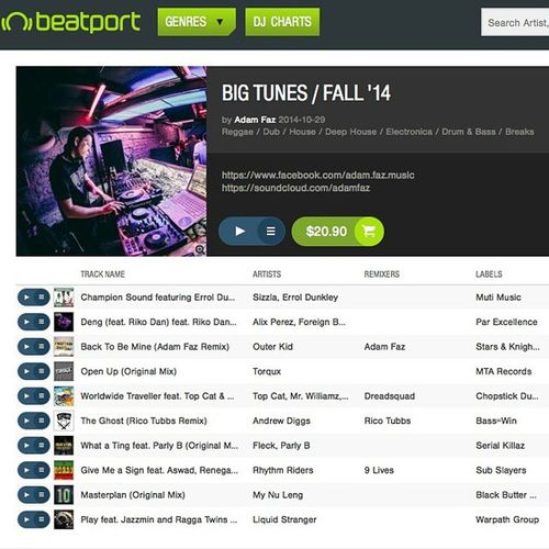 New beatport chart. Bigtunes Bassmusic Breakbeat Beatport