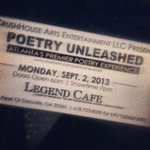 Found myself here. Gonna hop on da mic tonight Laborday Poetry Openmic Atlanta